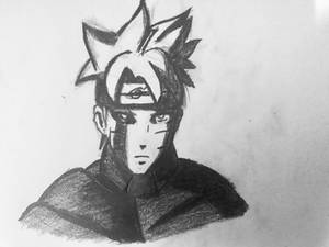 Uzumaki Boruto Jougan activated sketch