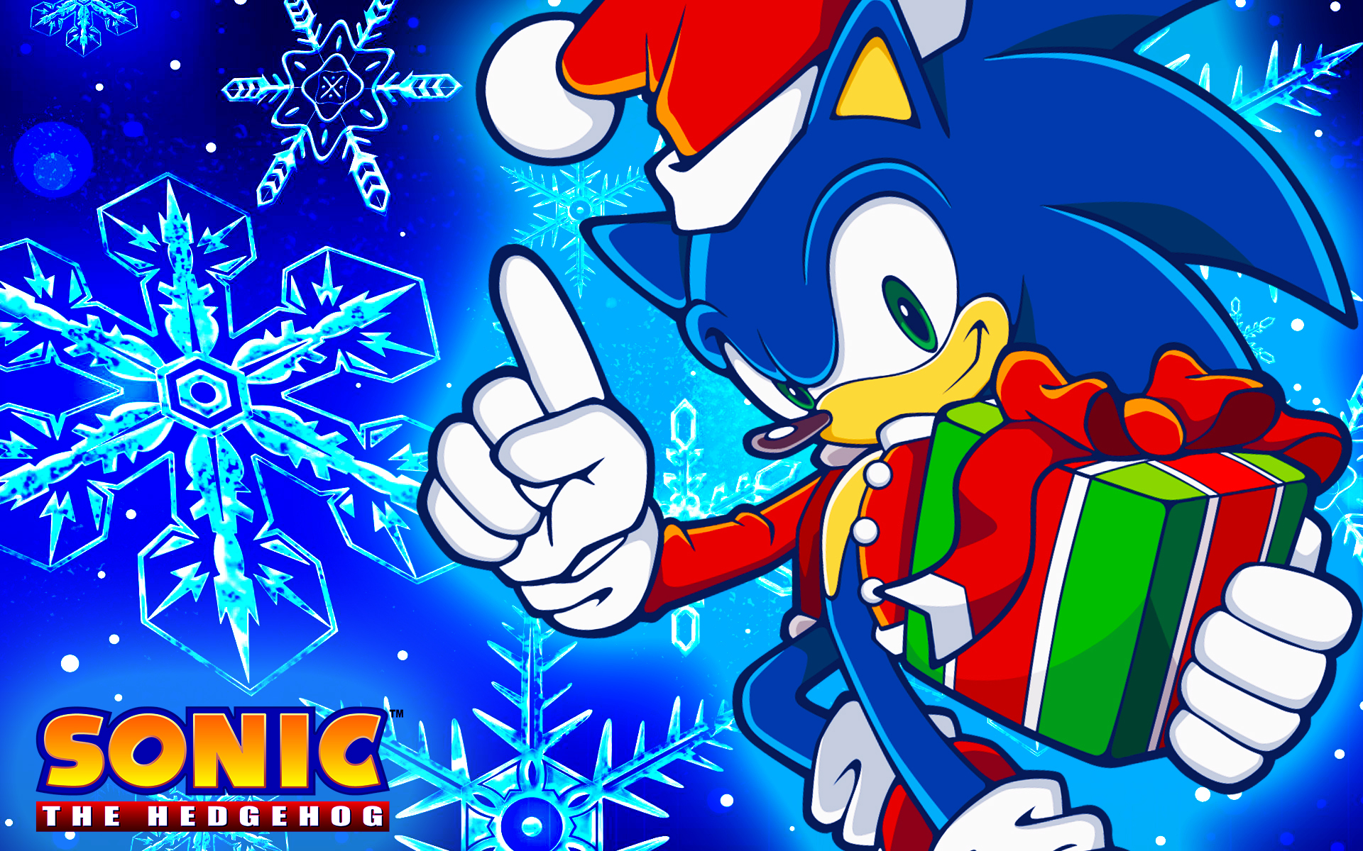 christmas sonic wallpaper by sonicthehedgehogbg on deviantart