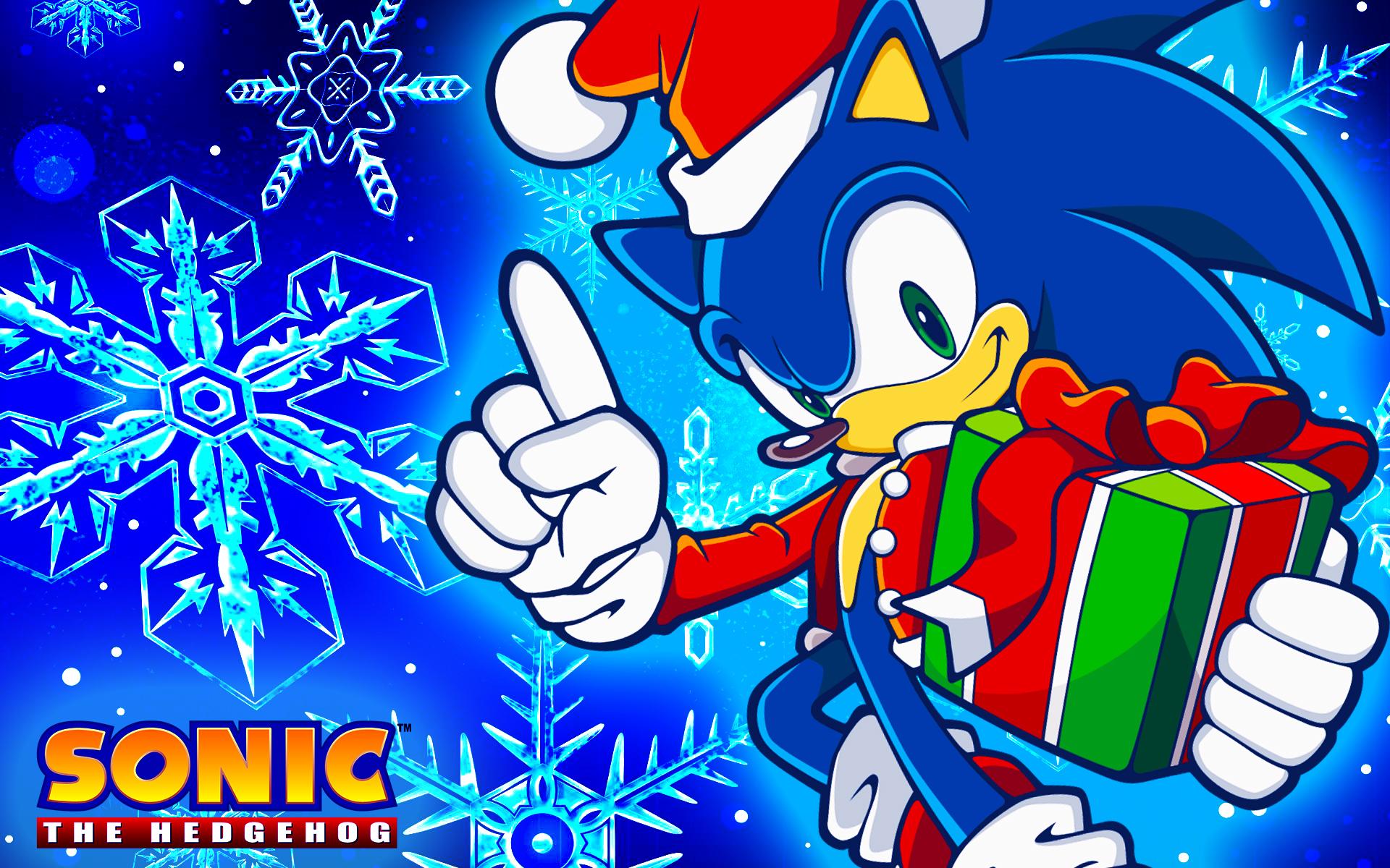 Christmas Sonic Wallpaper by SonicTheHedgehogBG on DeviantArt