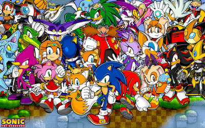 Sonic The Hedgehog And Friends Wallpaper