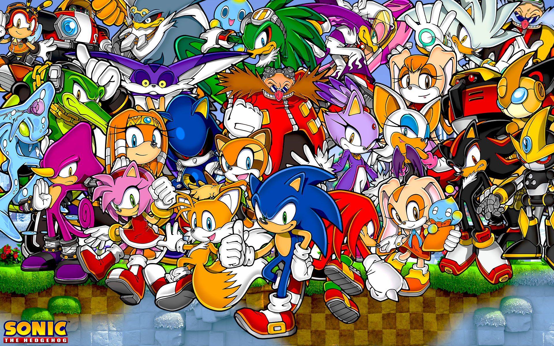 Sonic The Hedgehog And Friends Wallpaper by SonicTheHedgehogBG