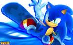 Sonic The Hedgehog Snowboarding Wallpaper
