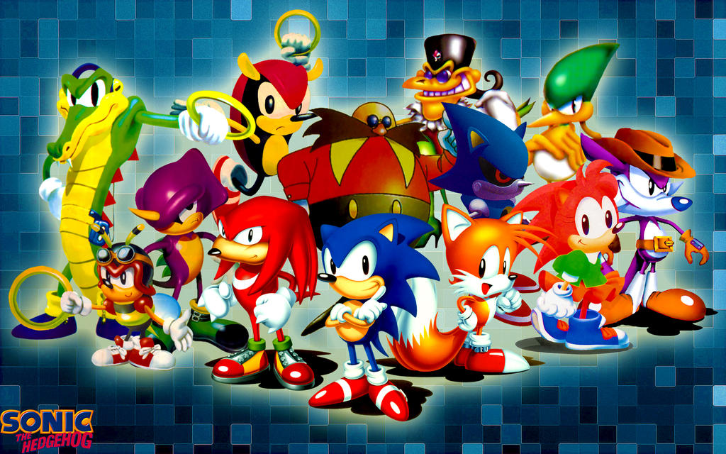 Classic Sonic The Hedgehog And Friends Wallpaper by SonicTheHedgehogBG