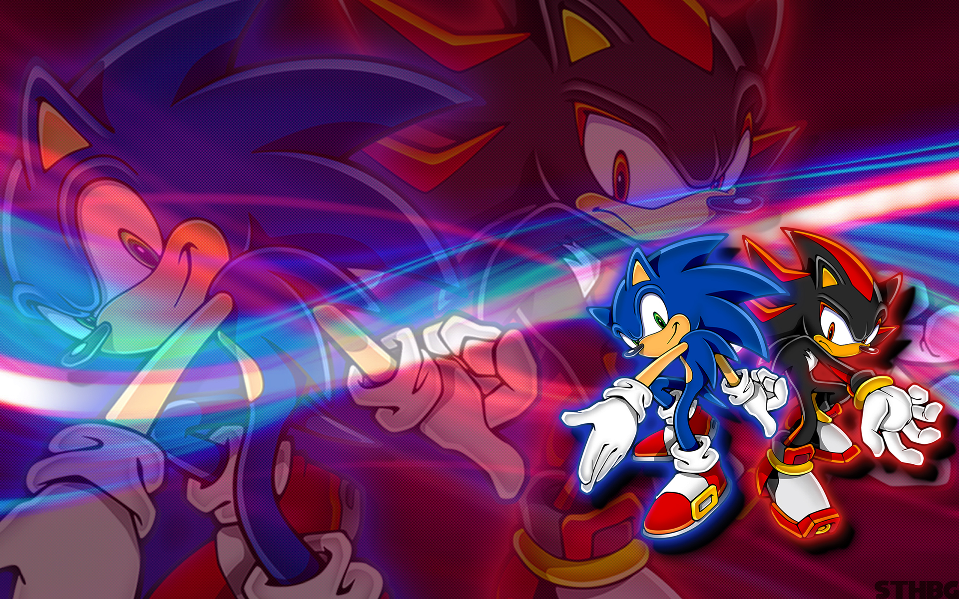 Sonic And Shadow Wallpaper By Sonicthehedgehogbg On Deviantart