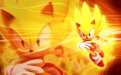 Super Sonic Wallpaper by SonicTheHedgehogBG