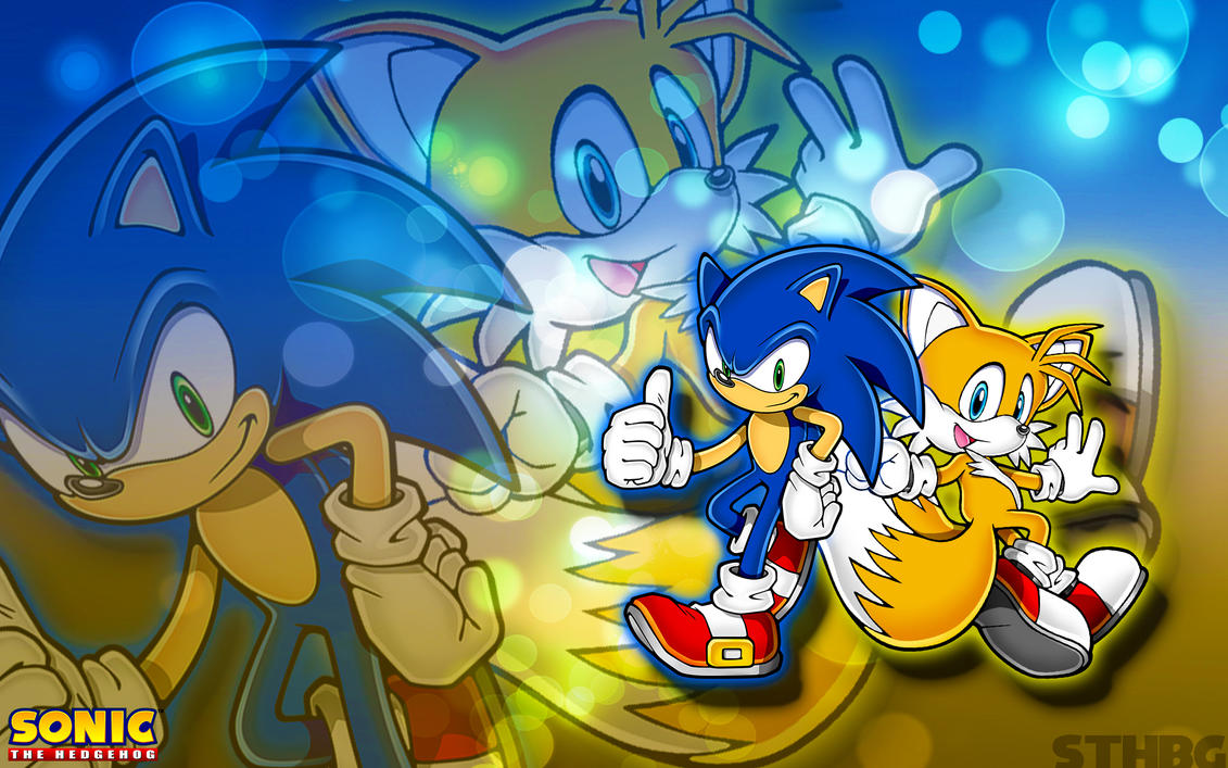 sonic and tails wallpapersonicthehedgehogbg on deviantart