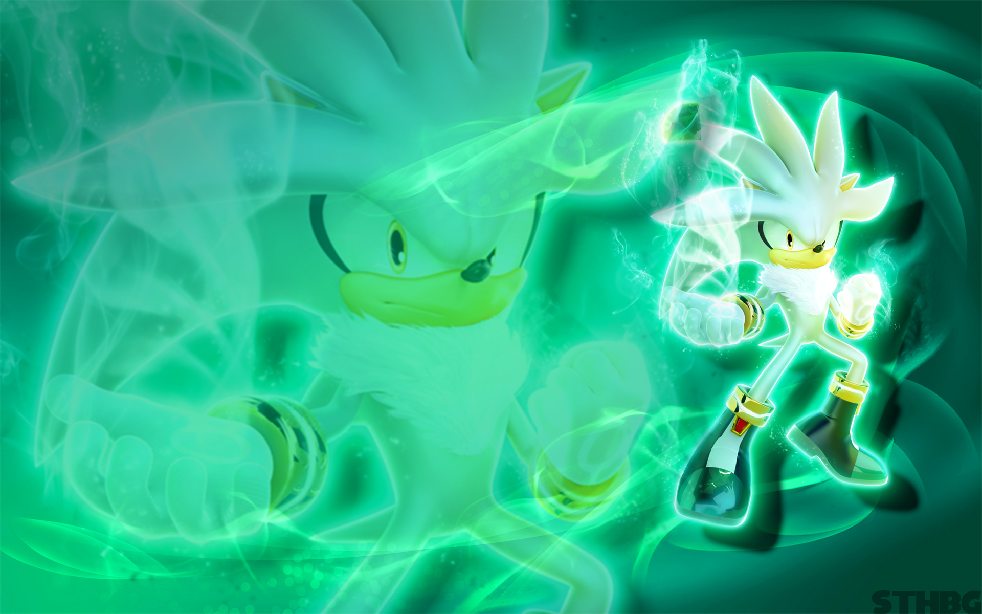 Silver The Hedgehog Wallpaper by SonicTheHedgehogBG