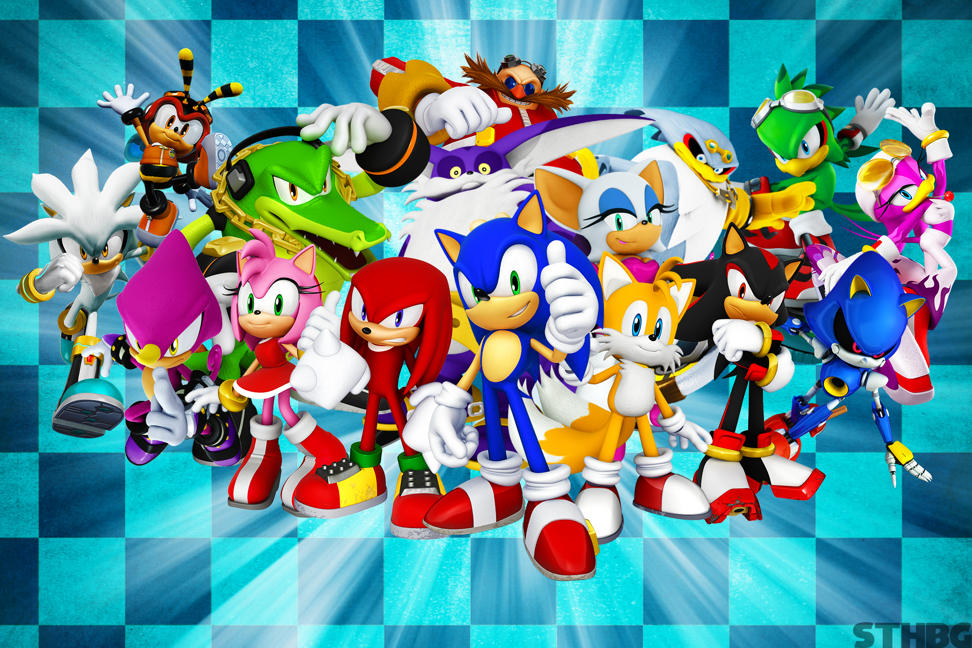 Sonic The Hedgehog And Friends Wallpaper By Sonicthehedgehogbg On