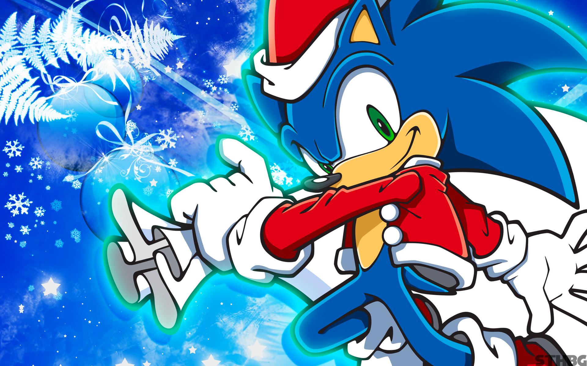 Christmas Sonic Wallpaper by SonicTheHedgehogBG