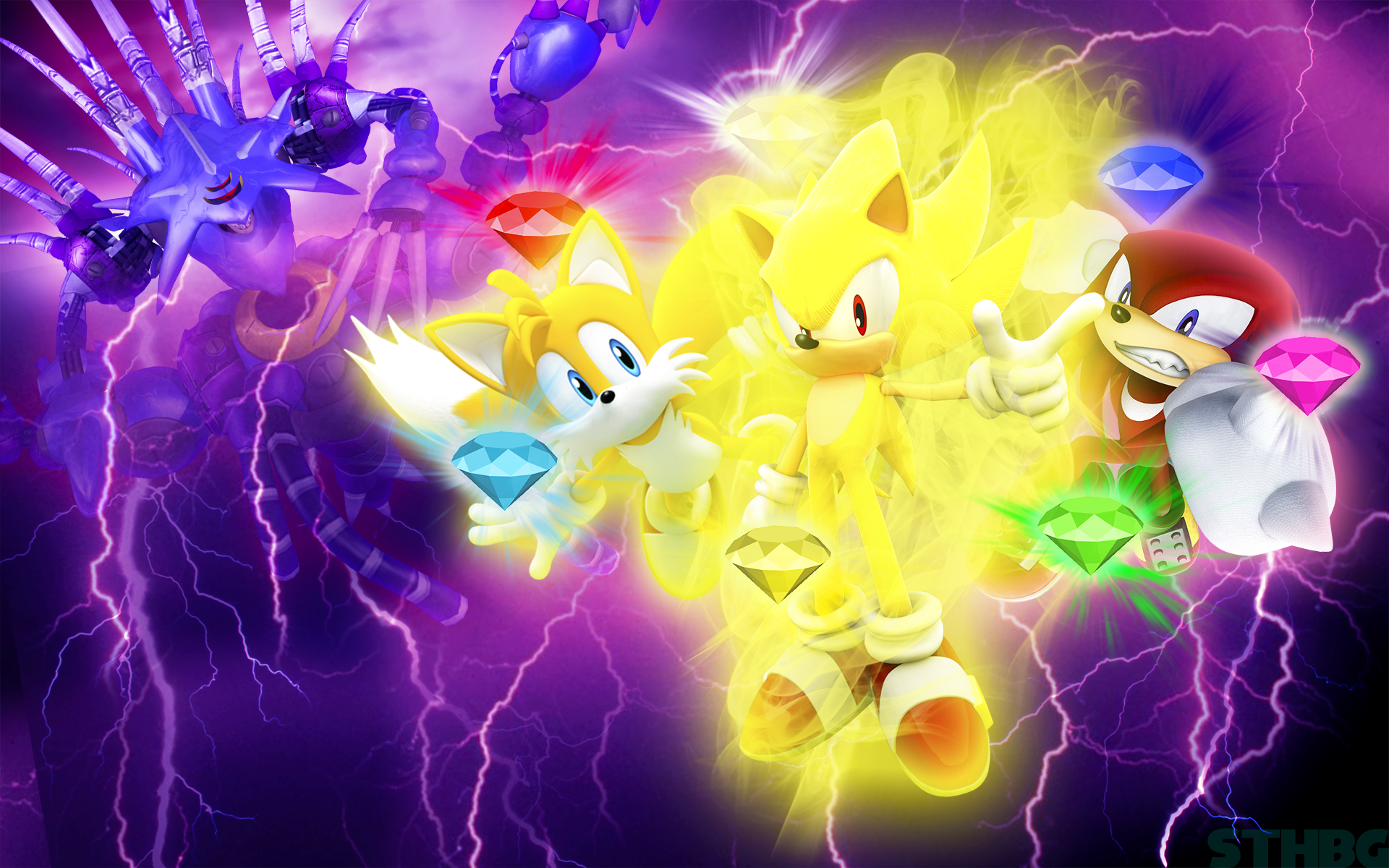 Sonic Heroes - Metal Madness Final Boss Wallpaper by SonicTheHedgehogBG