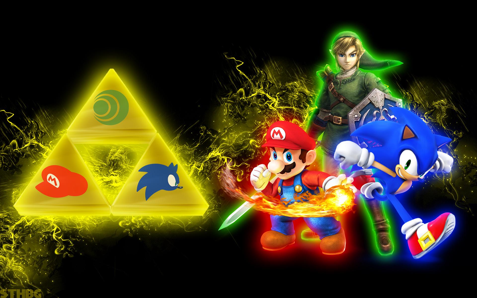 SonicTheHedgehogBG LinkMario And Sonic