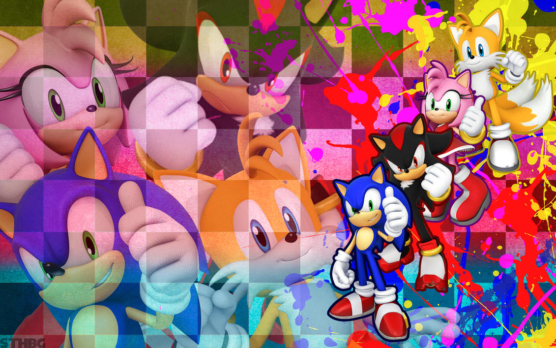Sonic, Shadow, Amy and Tails - Wallpaper by SonicTheHedgehogBG