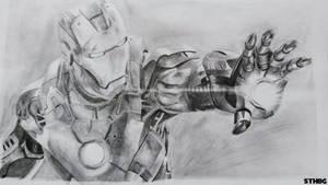 Iron Man - Pencil Drawing