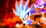 Silver The Hedgehog And Blaze The Cat - Wallpaper