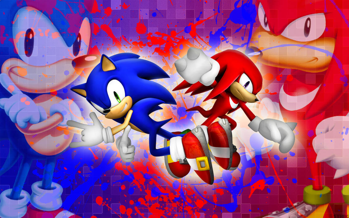Sonic And Knuckles - Wallpaper by SonicTheHedgehogBG