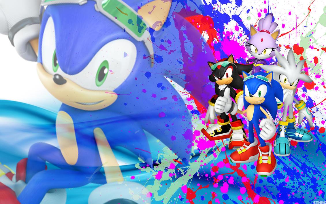 Sonic, Shadow, Silver And Blaze - Wallpaper by SonicTheHedgehogBG