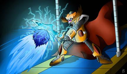 Sonic The Hedgehog Vs Dr.Eggman - Drawing by SonicTheHedgehogBG