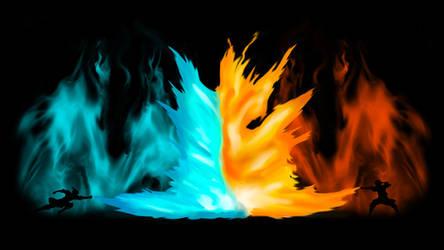 Avatar - Agni Kai Zuko Vs Azula - Shirt/Wallpaper