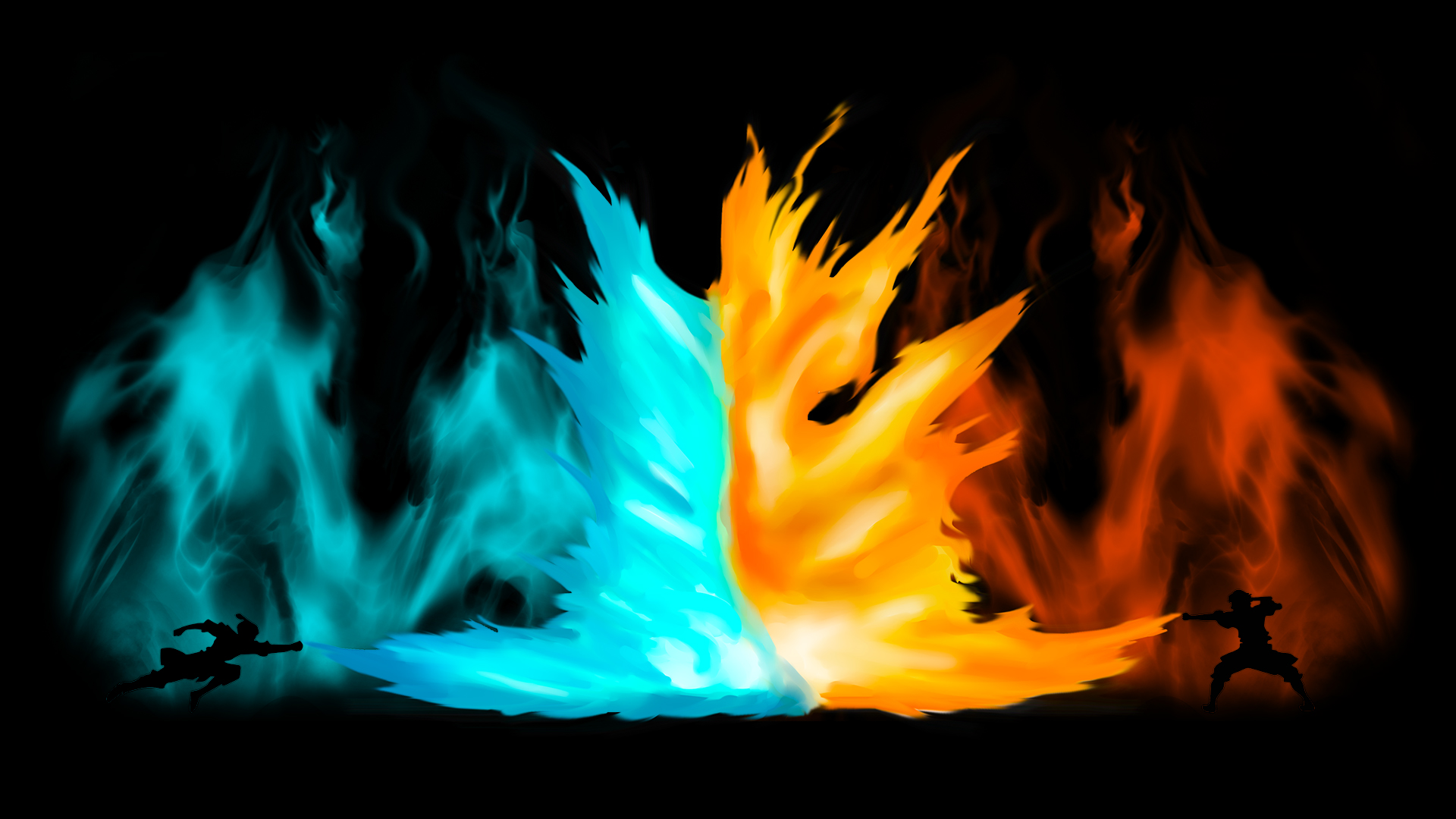 avatar - agni kai zuko vs azula - shirt/wallpaper