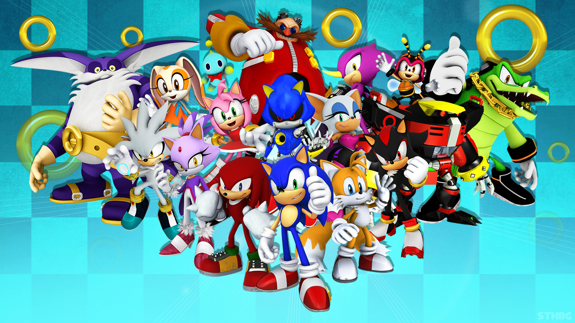 Sonic The Hedgehog And Friends - Wallpaper by SonicTheHedgehogBG ...