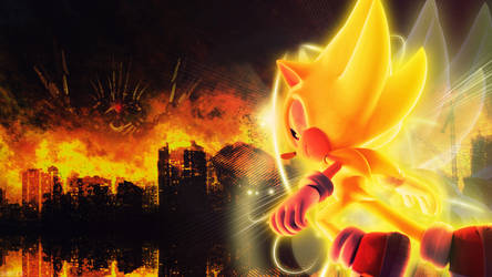 Super Sonic Vs Metal Overlord - Wallpaper by SonicTheHedgehogBG