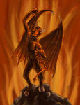 Demon on Rock