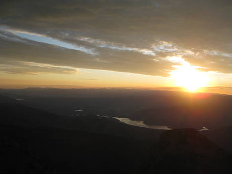 Sunset from top of Mt. Timp