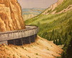 Road Around Mountain - Yellowstone