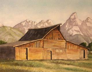 Barn - Upper Teton Valley by tadamson