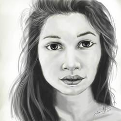 Realistic Female Portrait by tadamson