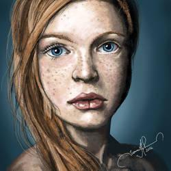 Red Head Portrait by tadamson