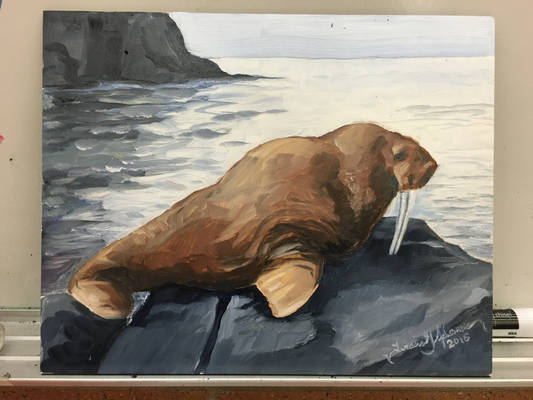 Walrus Oil Painting