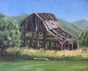 Rickety Barn by tadamson