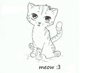 meow - cat :3 by RainyApplePie