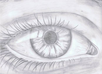 semi-realistic eye by RainyApplePie