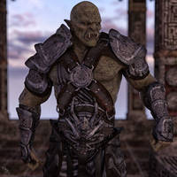 Orc Warmaster by scifigiant