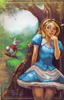 The White Rabbit and Alice by kamillyonsiya