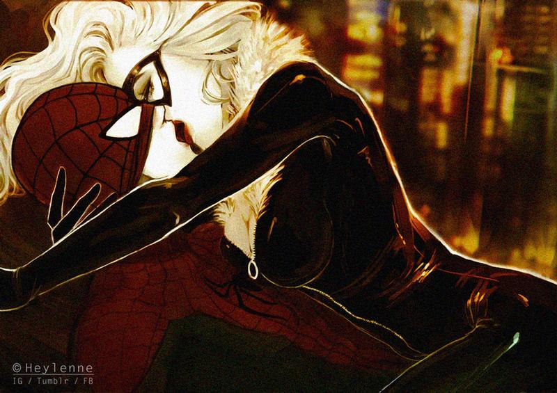 Spiderman x Black Cat by Heylenne on DeviantArt