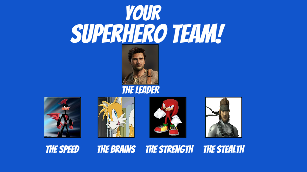 My Superhero Team Meme by MarioFanProductions