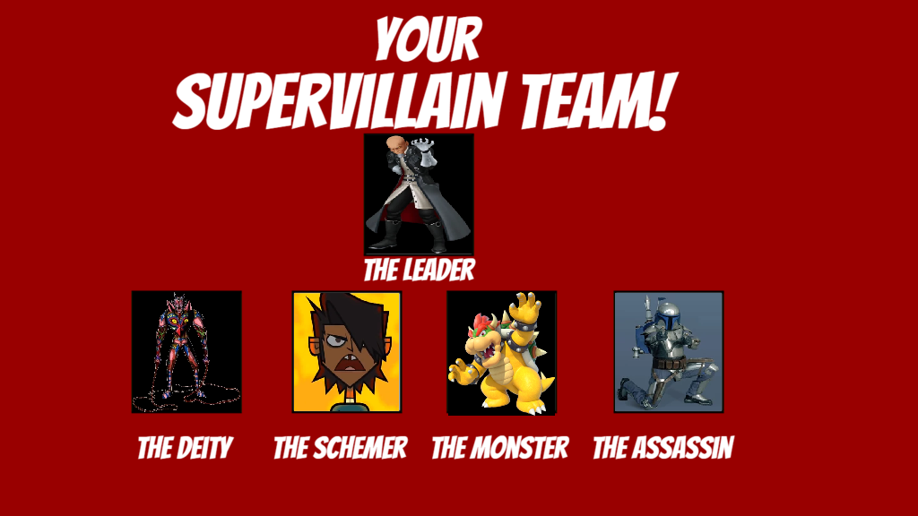 My Supervilllain Team Meme by MarioFanProductions