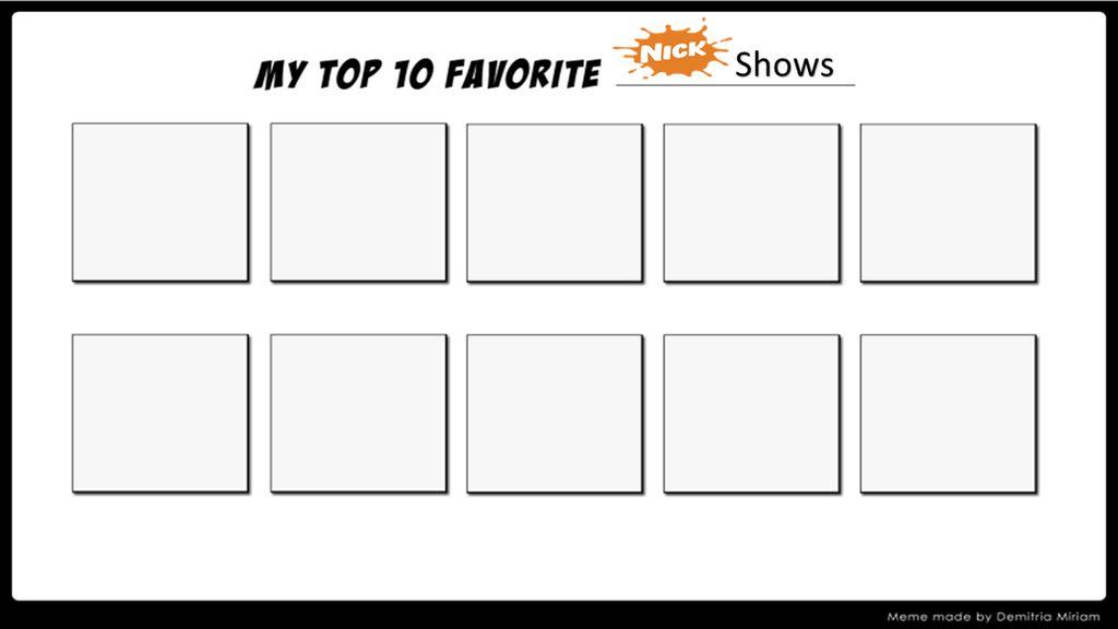 Top 10 Nickelodeon Shows by MarioFanProductions