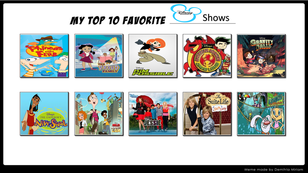 My Top 10 Disney Channel Shows by MarioFanProductions