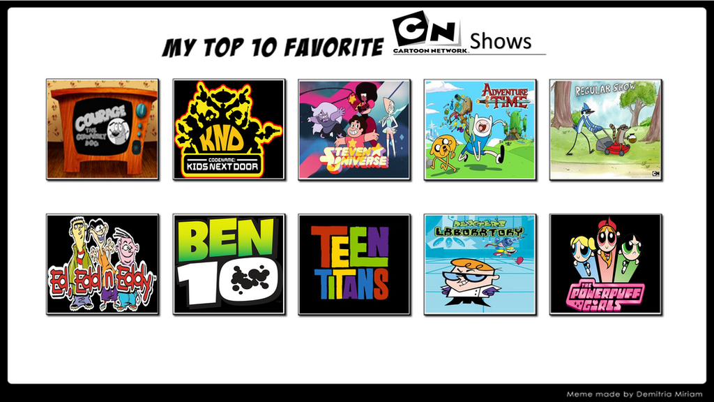 My Top 10 Cartoon Network Shows by MarioFanProductions