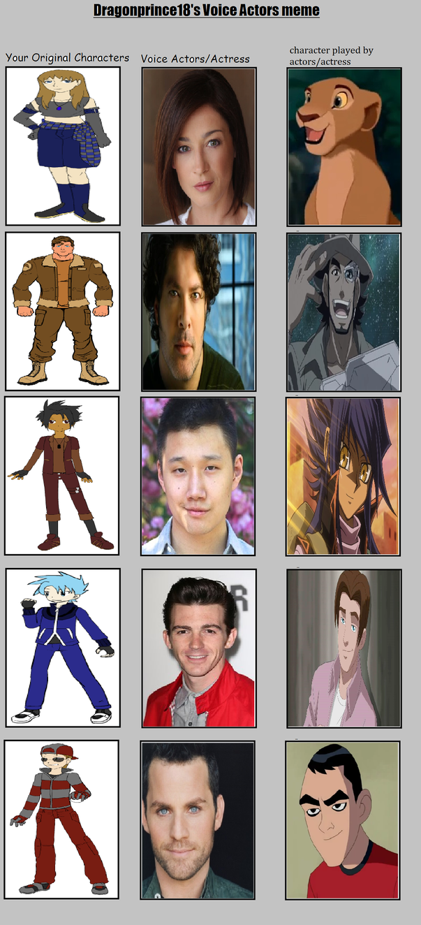 My OC Voice Actors part 2 by MarioFanProductions