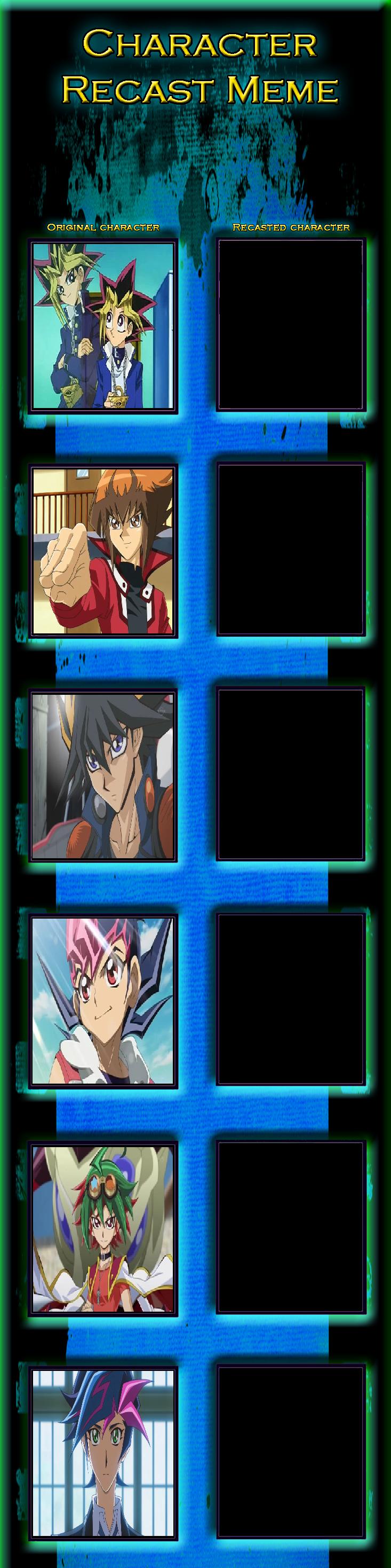Yu-Gi-Oh! Protagonist Recast Meme by MarioFanProductions