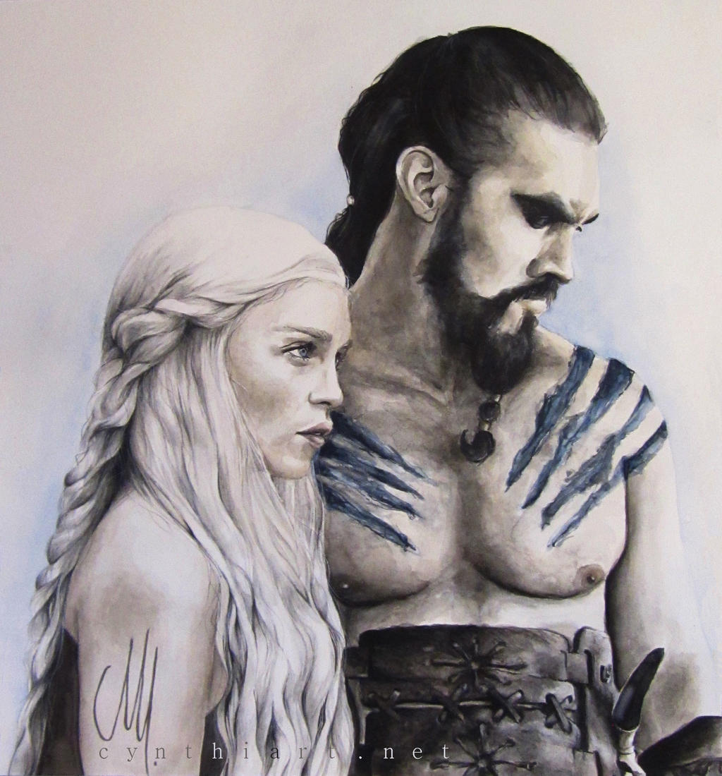 Daenerys y Drogo Game_of_thrones___daenerys_targaryen___khal_drogo_by_cymue-d5iwaf0