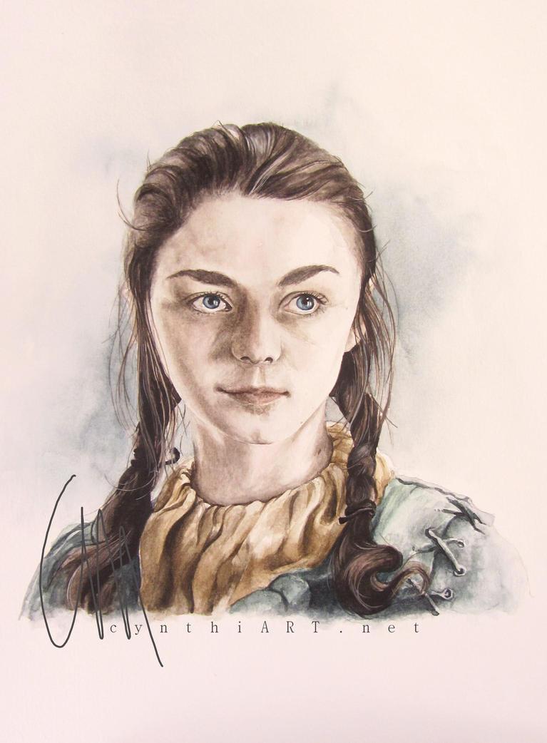 arya stark of winterfell by cymue