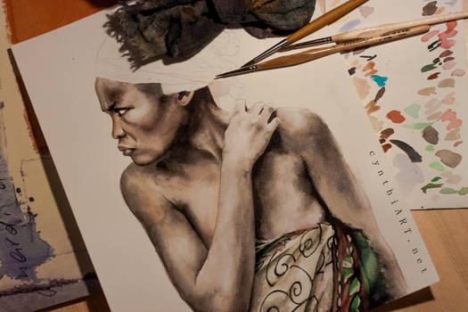 madagasy woman in progress