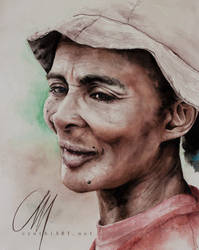 old madagasy woman