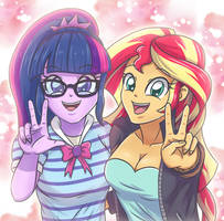 Twilight and Sunset by sumin6301